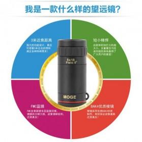 MOGE Teropong Monokular Ultra Clear Bidirectional 8 x 18 - Black - 5