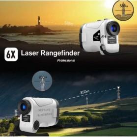 APEXEL Teropong Golf Jarak Laser Rangefinder 1200M 6X - APL-LRM1200GY - Gray - 4
