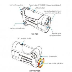 APEXEL Teropong Golf Jarak Laser Rangefinder 1200M 6X - APL-LRM1200GY - Gray - 8