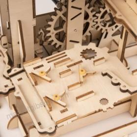 Robotime Mainan Puzzle Rakit Mechanical Gears Kayu 3D Model Lokomotif - ROKR-LK701 - Brown - 5