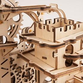 Robotime Mainan Puzzle Rakit Mechanical Gears Kayu 3D Model Lokomotif - ROKR-LK701 - Brown - 6