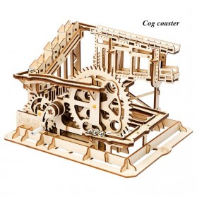 Robotime Mainan Puzzle Rakit Mechanical Gears Kayu 3D Model COG Coaster - ROKR-LG502 - Brown