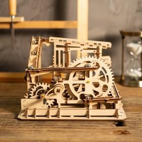 Robotime Mainan Puzzle Rakit Mechanical Gears Kayu 3D Model COG Coaster - ROKR-LG502 - Brown - 2