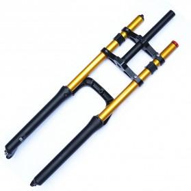 Lankeleisi XR6 Downhill Fork Spring Suspension Front Fork Shock Absorber Ebike Sepeda Listrik for Lankeleisi XT750 Plus - Black - 2