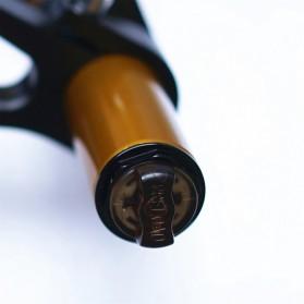 Lankeleisi XR6 Downhill Fork Spring Suspension Front Fork Shock Absorber Ebike Sepeda Listrik for Lankeleisi XT750 Plus - Black - 3