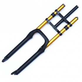 Lankeleisi XR6 Downhill Fork Spring Suspension Front Fork Shock Absorber Ebike Sepeda Listrik for Lankeleisi XT750 Plus - Black - 5
