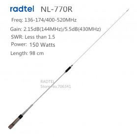 NAGOYA Antena Dual Band NL-770R for Walkie Talkie QYT KT-980plus KT-8900 KT-8900d BJ-218 TYT TH-9000D - Black - 2