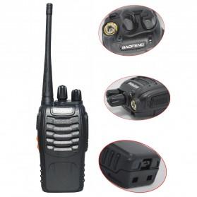 Baofeng Walkie Talkie Single Band 16CH UHF - BF-888S - Black