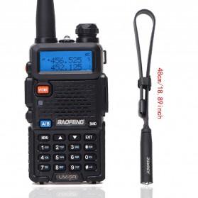 Baofeng Walkie Talkie Dual Band Radio 8W 128CH UHF+VHF - BF-UV5R - Black