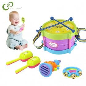JOKEJOLLY Mainan Musik Bayi Anak Children Drum Trumpet Percussion Band Kit Toy 5 PCS - B4715 - Multi-Color