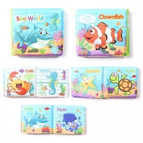 JOKEJOLLY Mainan Buku Bayi Anak Children Bath Book Floating Toy - SLB01 - Blue