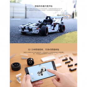 Xiaomi MITU Smart Building Block Toy Mainan Remote Control Mobil Balap - GLSC01IQI - White - 4