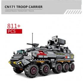 Xiaomi ONEBOT Building Block Wandering Earth Troop Carrier Mainan Mobil Tank  - CN-171 - Black - 2