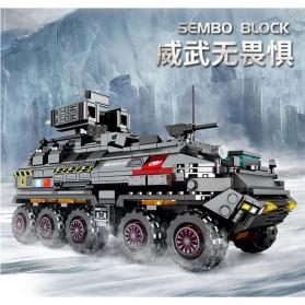 Xiaomi ONEBOT Building Block Wandering Earth Troop Carrier Mainan Mobil Tank  - CN-171 - Black - 3