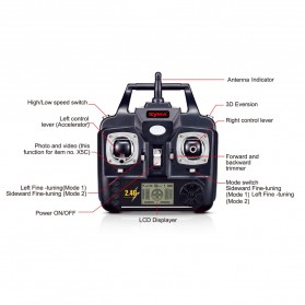 Syma X5C HD Camera Explorer 4CH Remote Control 2.4G 6 Axis Quadcopter with GYRO - White - 3