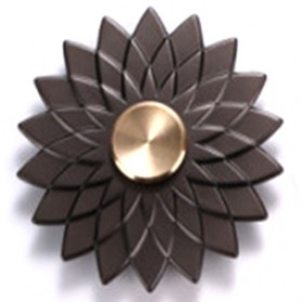 Remax Flower Petal Metal Fidget Spinner - Black