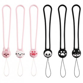 Remax Smartphone Cartoon Lanyard Size Short Model Pink-2 - Pink - 7