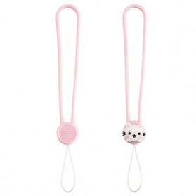 Remax Smartphone Cartoon Lanyard Size Short Model Pink-3 - Pink