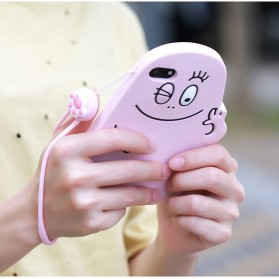 Remax Smartphone Cartoon Lanyard Size Short Model Pink-3 - Pink - 5
