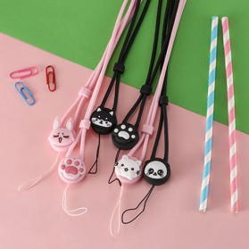 Remax Smartphone Cartoon Lanyard Size Short Model Black-3 - Black - 8