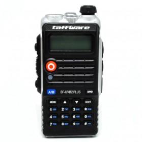 Pofung Taffware Walkie Talkie Dual Band 8W 128CH UHF+VHF - BF-UVB2 Plus - Black