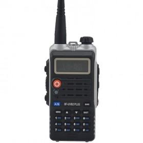 Taffware Walkie Talkie Dual Band 8W 128CH UHF+VHF - BF-UVB2 Plus - Black - 3