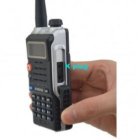 Taffware Walkie Talkie Dual Band 8W 128CH UHF+VHF - BF-UVB2 Plus - Black - 11