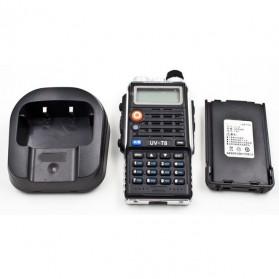 Taffware Walkie Talkie Dual Band 8W 128CH UHF+VHF - BF-UVB2 Plus - Black - 12