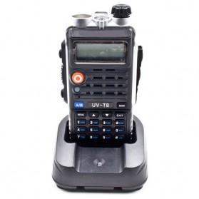 Taffware Walkie Talkie Dual Band 8W 128CH UHF+VHF - BF-UVB2 Plus - Black - 13