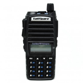 Taffware Walkie Talkie Dual Band 5W 128CH UHF+VHF - BF-UV82 - Black - 1