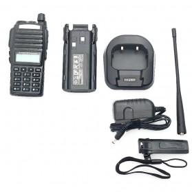 Taffware Walkie Talkie Dual Band 5W 128CH UHF+VHF - BF-UV82 - Black - 2