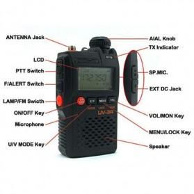 Taffware Walkie Talkie Dual Band 99CH 2W UHF+VHF - BF-UV3R - Black - 5