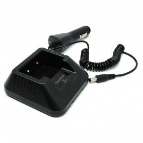 Taffware Car Charger Walkie Talkie for Taffware Pofung Baofeng BF-UV5R 5RE+ BF-F8 BF-UV5RA - CH-5 - Black