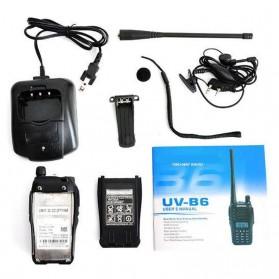 Taffware Walkie Talkie Dual Band Two Way Radio 5W 99CH UHF+VHF - UV-B6 - Black - 9