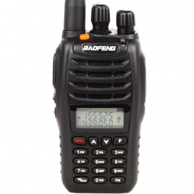 Baofeng Walkie Talkie Dual Band 5W 99CH UHF+VHF - UV-B5 - Black