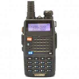 Taffware Walkie Talkie Dual Band Radio 5W 128CH UHF+VHF - UV-5RC - Black