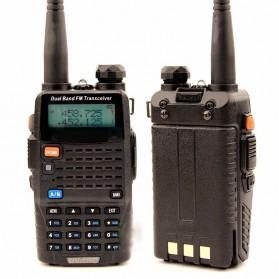 Taffware Walkie Talkie Dual Band Radio 5W 128CH UHF+VHF - UV-5RC - Black - 2