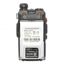 Taffware Walkie Talkie Dual Band Radio 5W 128CH UHF+VHF - UV-5RC - Black - 5