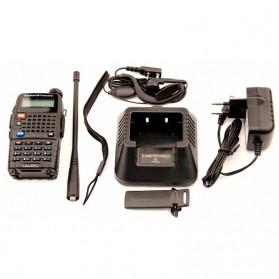 Taffware Walkie Talkie Dual Band Radio 5W 128CH UHF+VHF - UV-5RC - Black - 7