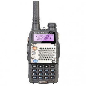 Taffware Walkie Talkie Dual Band Radio 5W 128CH UHF+VHF - UV-5RD - Black