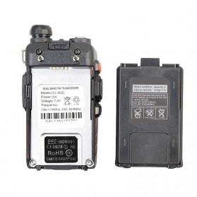 Taffware Walkie Talkie Dual Band Radio 5W 128CH UHF+VHF - UV-5RD - Black - 7