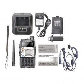 Taffware Walkie Talkie Dual Band Radio 5W 128CH UHF+VHF - UV-5RD - Black - 9