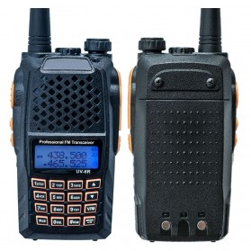 Taffware Walkie Talkie Dual Band Radio 5W 128 CH UHF+VHF - UV-6R - Black
