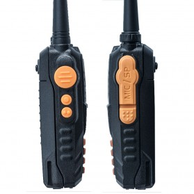 Taffware Walkie Talkie Dual Band Radio 5W 128 CH UHF+VHF - UV-6R - Black - 2