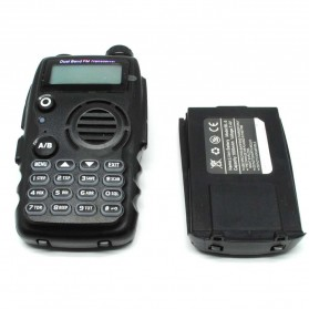 Taffware Walkie Talkie Dual Band Two Way Radio 5W 128CH FM - A52 - Black