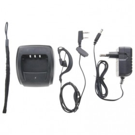 Taffware Walkie Talkie Dual Band Two Way Radio 5W 128CH FM - A52 - Black - 6