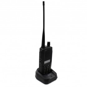 Taffware Walkie Talkie Dual Band 8W 128CH UHF+VHF - UV-B5 Plus - Black - 6