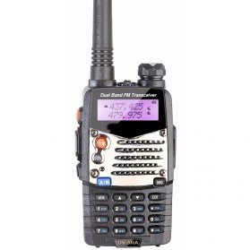 Taffware Walkie Talkie Dual Band Radio 5W 128CH UHF+VHF - UV-5RA - Black