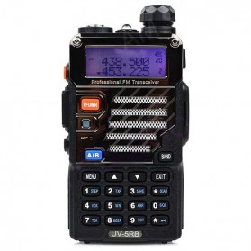 Taffware Walkie Talkie Dual Band Radio 5W 128CH UHF+VHF - BF-UV-5RB - Black