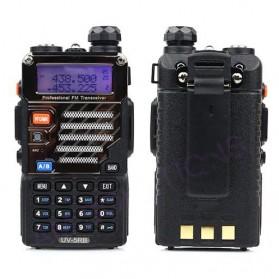 Taffware Walkie Talkie Dual Band Radio 5W 128CH UHF+VHF - BF-UV-5RB - Black - 2
